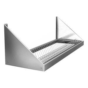Полка настенная кухонная для сушки посуды ПНП-600т с поддоном